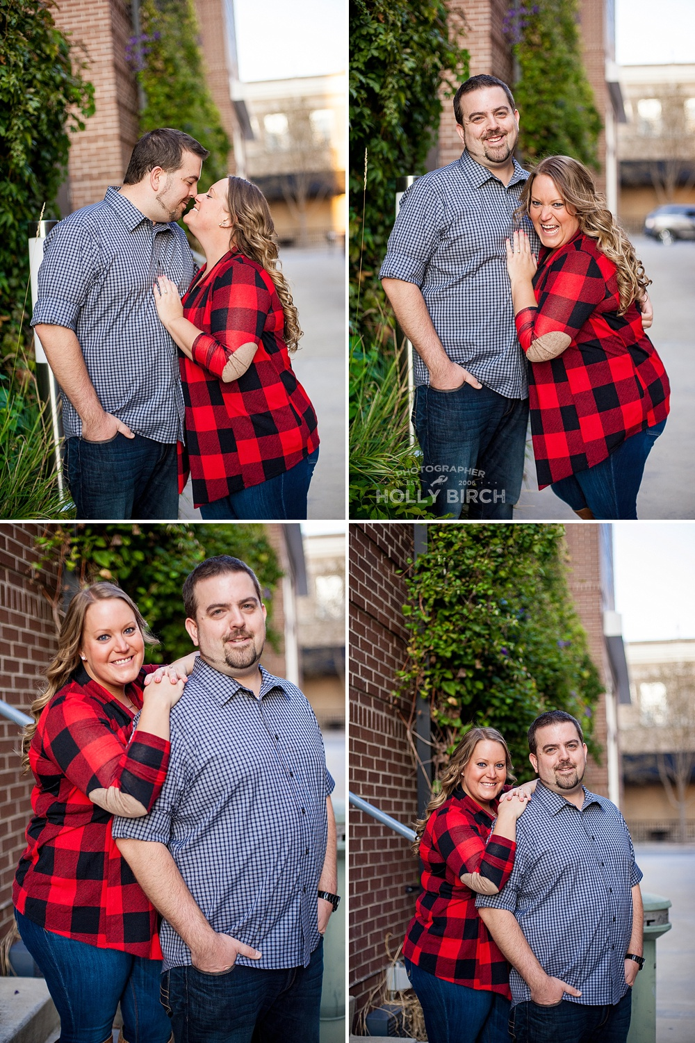 ivy-covered wall engagement photos