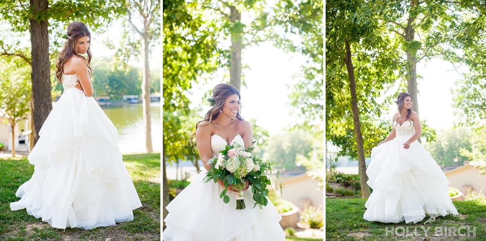 Lake Sara cabin bridal portraits