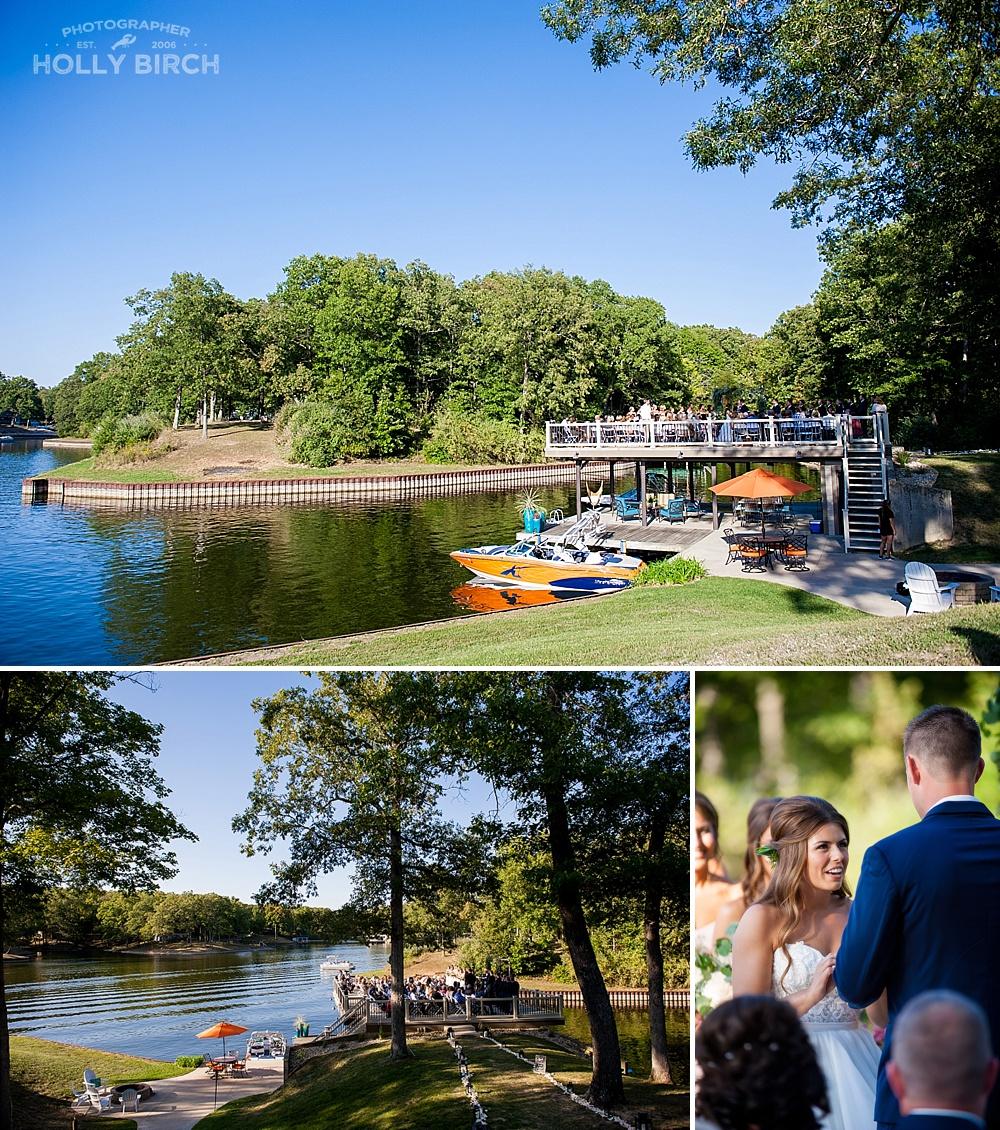 Lake Sara Effingham wedding ceremony