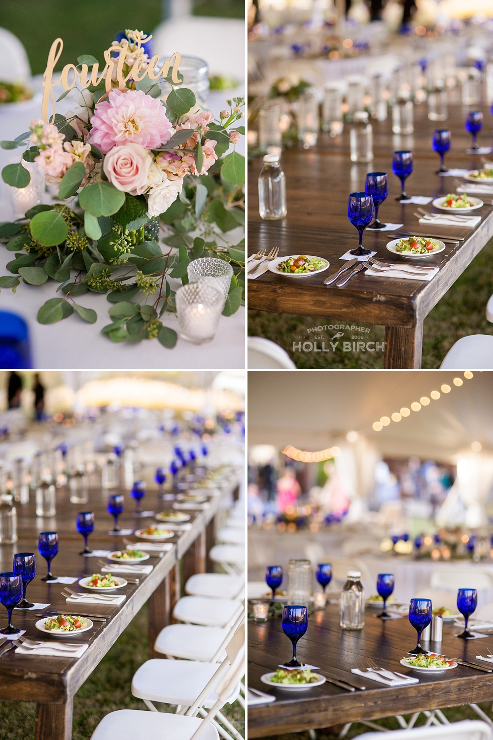 farmhouse head table reception at Firefly Grill