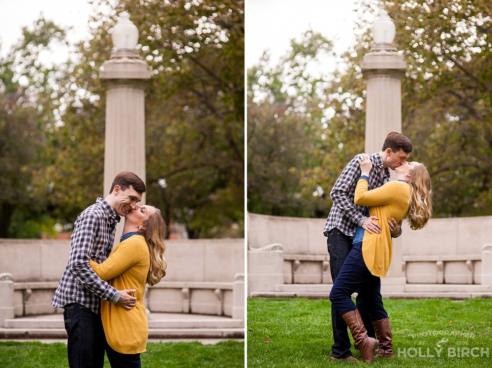 seal a kiss at the eternal flame on campus