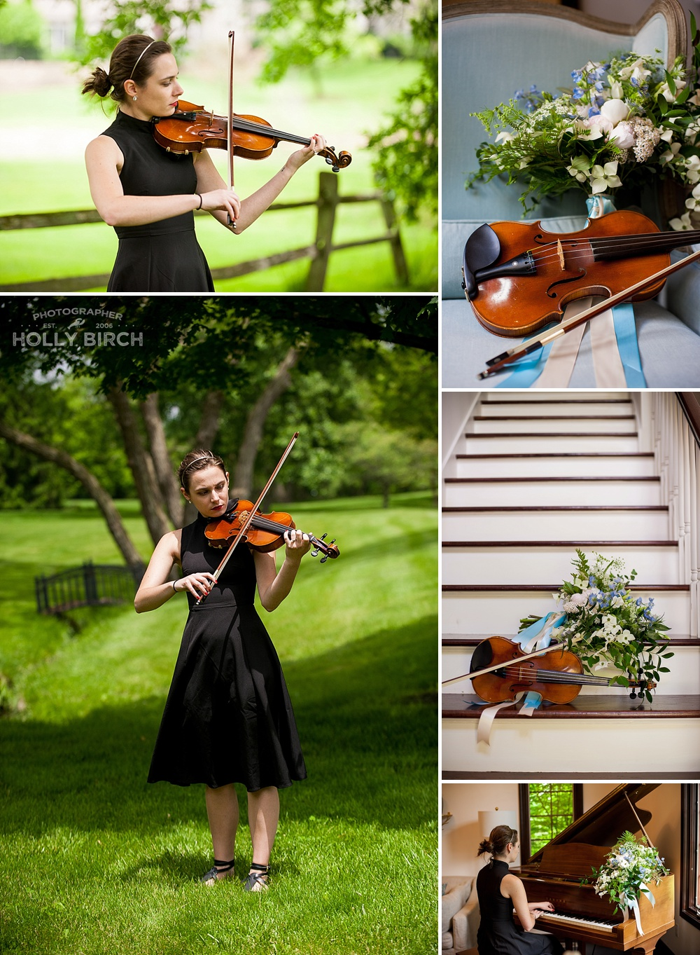 The sound of music photo shoot with violin