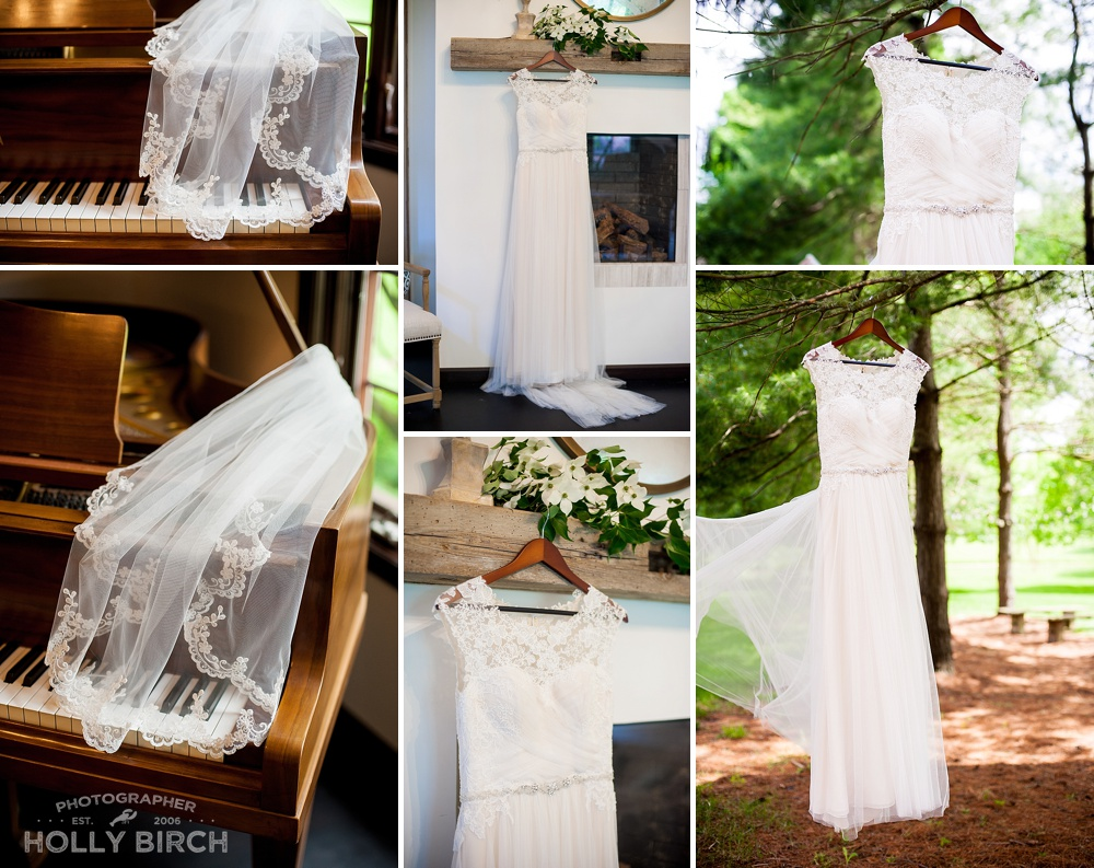 bridal gown and veil from Michelle's Bridal