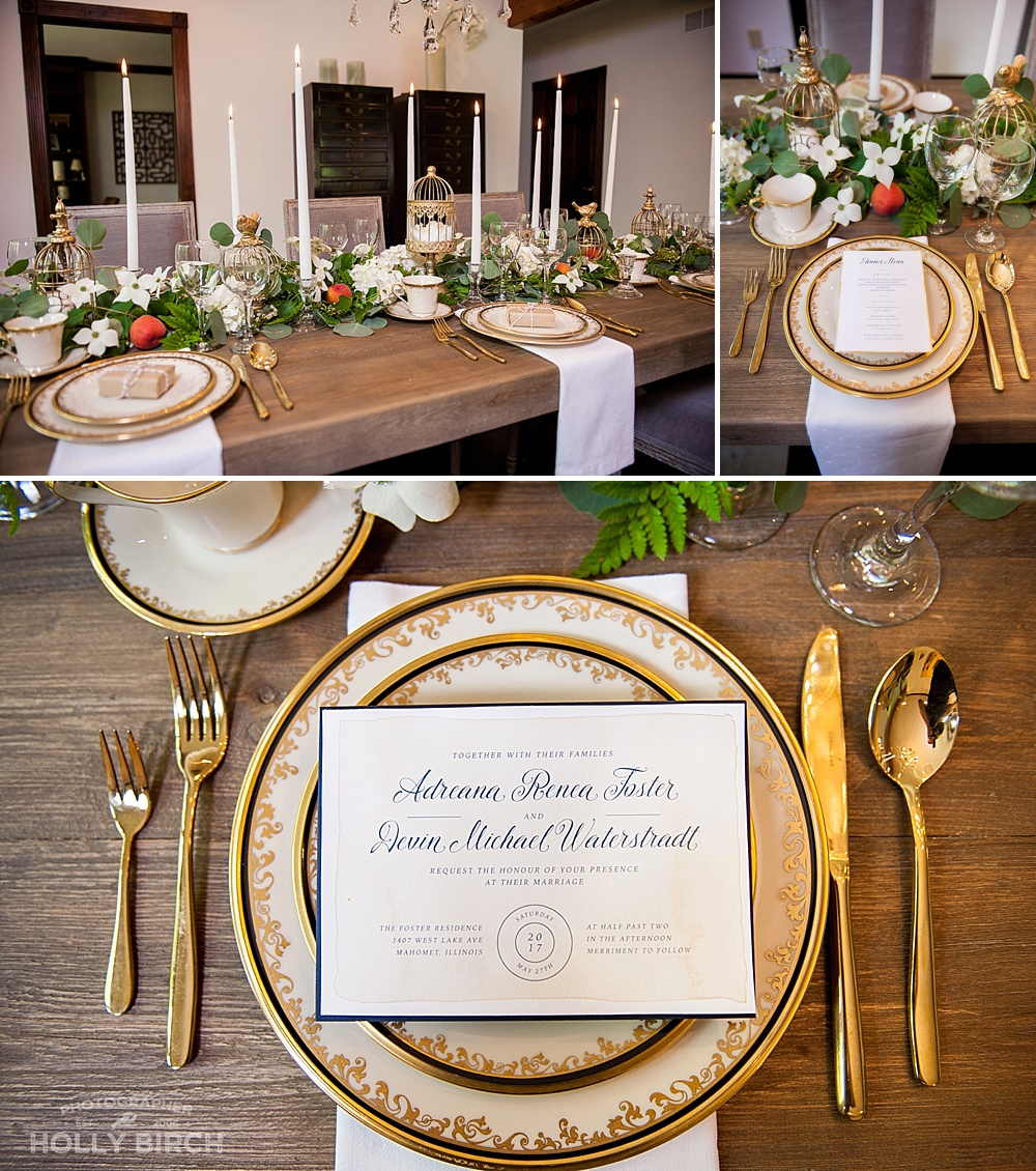 elegant Austrian dinner table setup