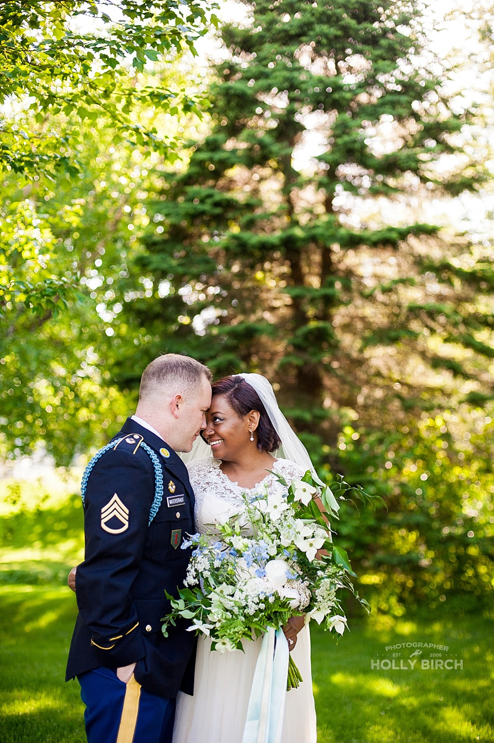 lovely military backyard wedding