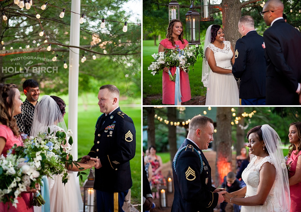 candlelit outdoor wedding ceremony