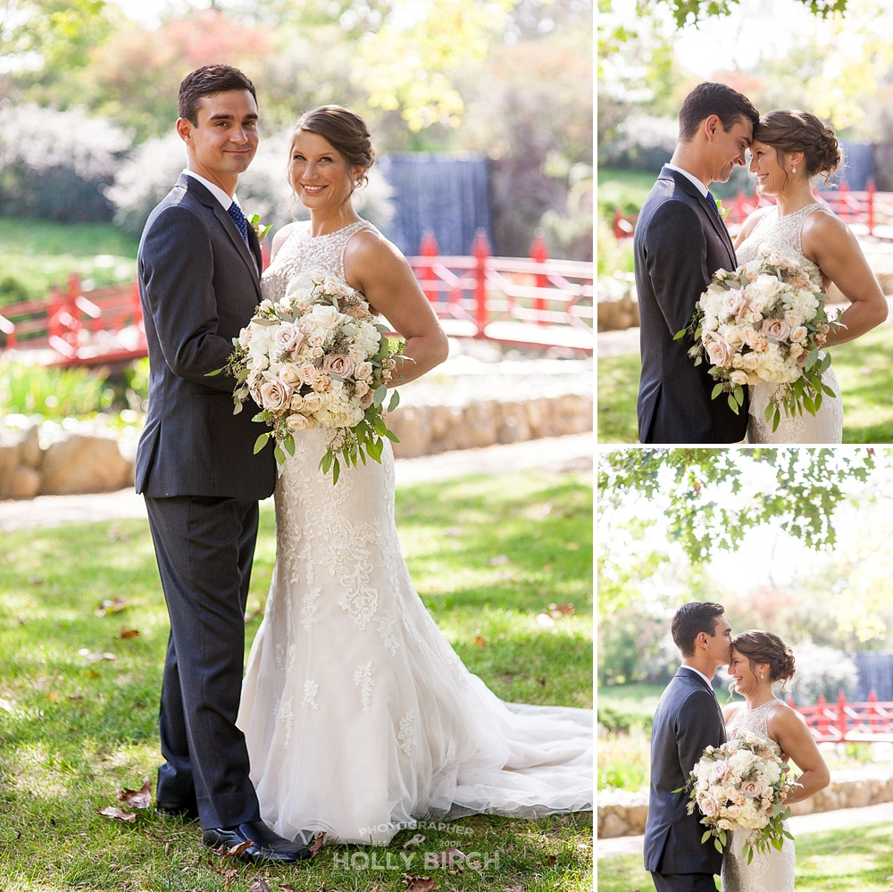 backlit beautiful wedding portraits