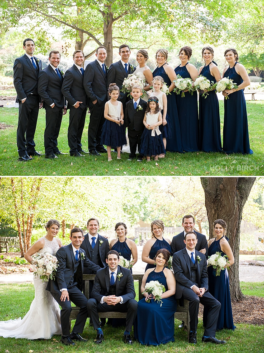 wedding party at Lake of the Woods botanical garden