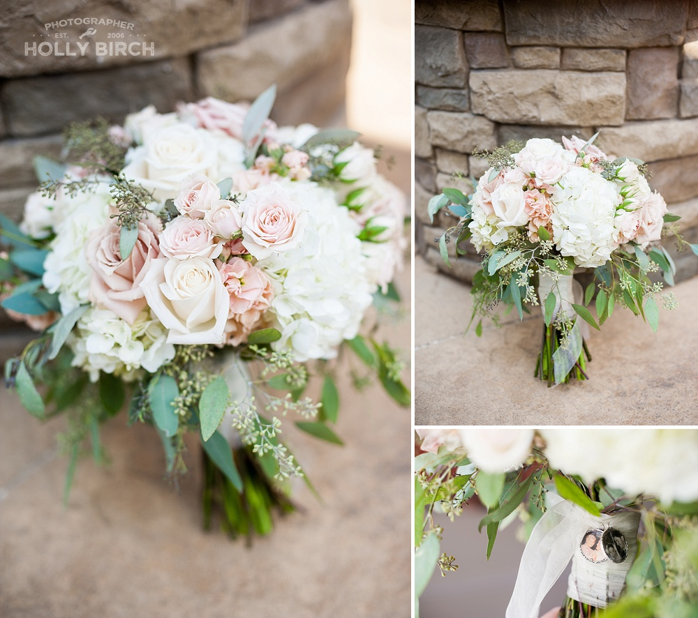 bridal bouquet by Blossom Basket
