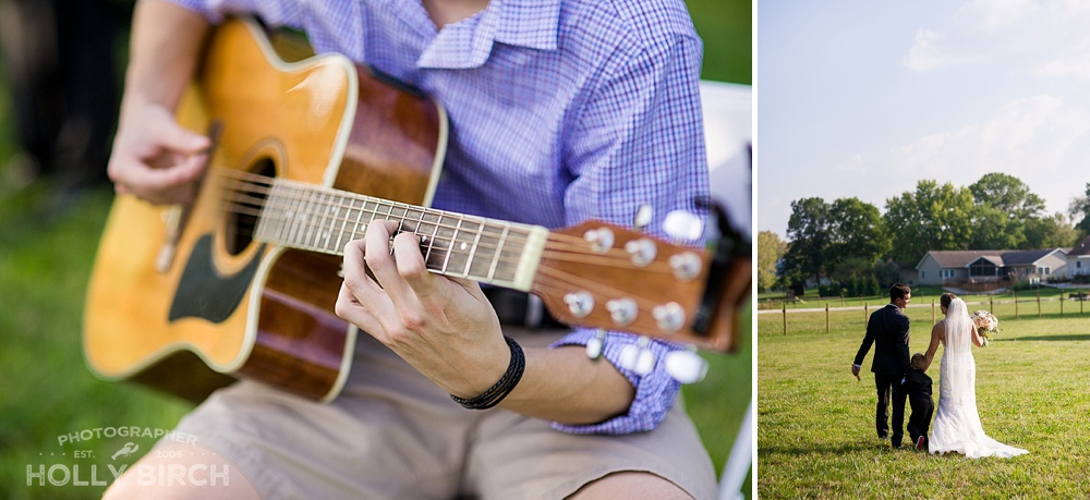 acoustic guitar music at wedding