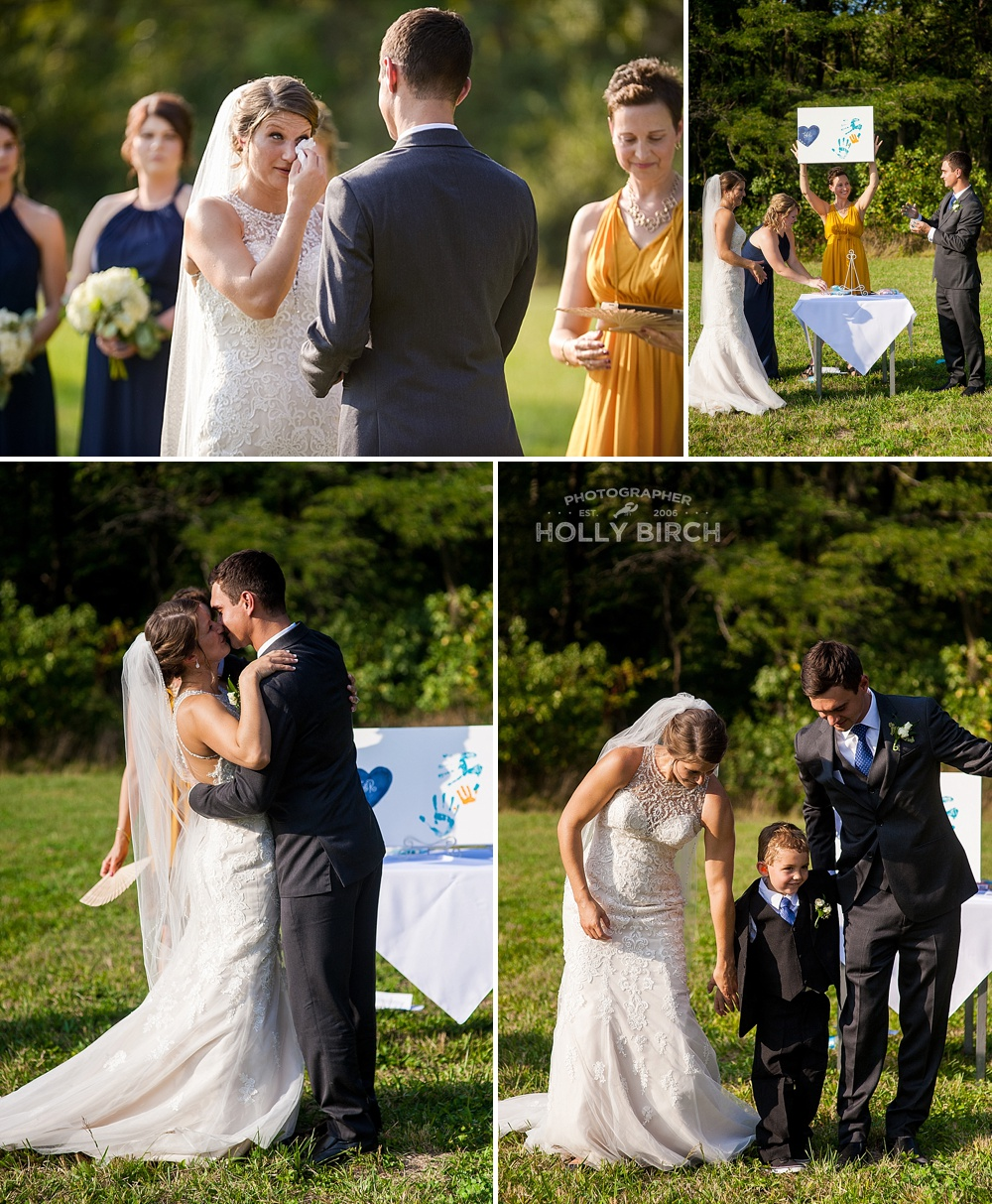 wedding ceremony in full sun on private property