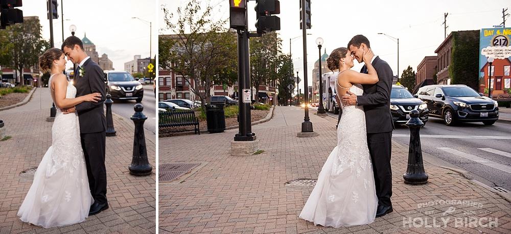 OCF wedding photos with city view