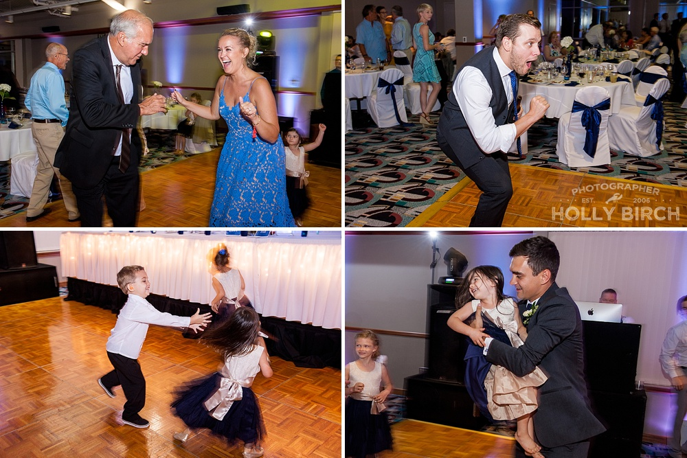 dancing wedding photos with motion and DJ lights