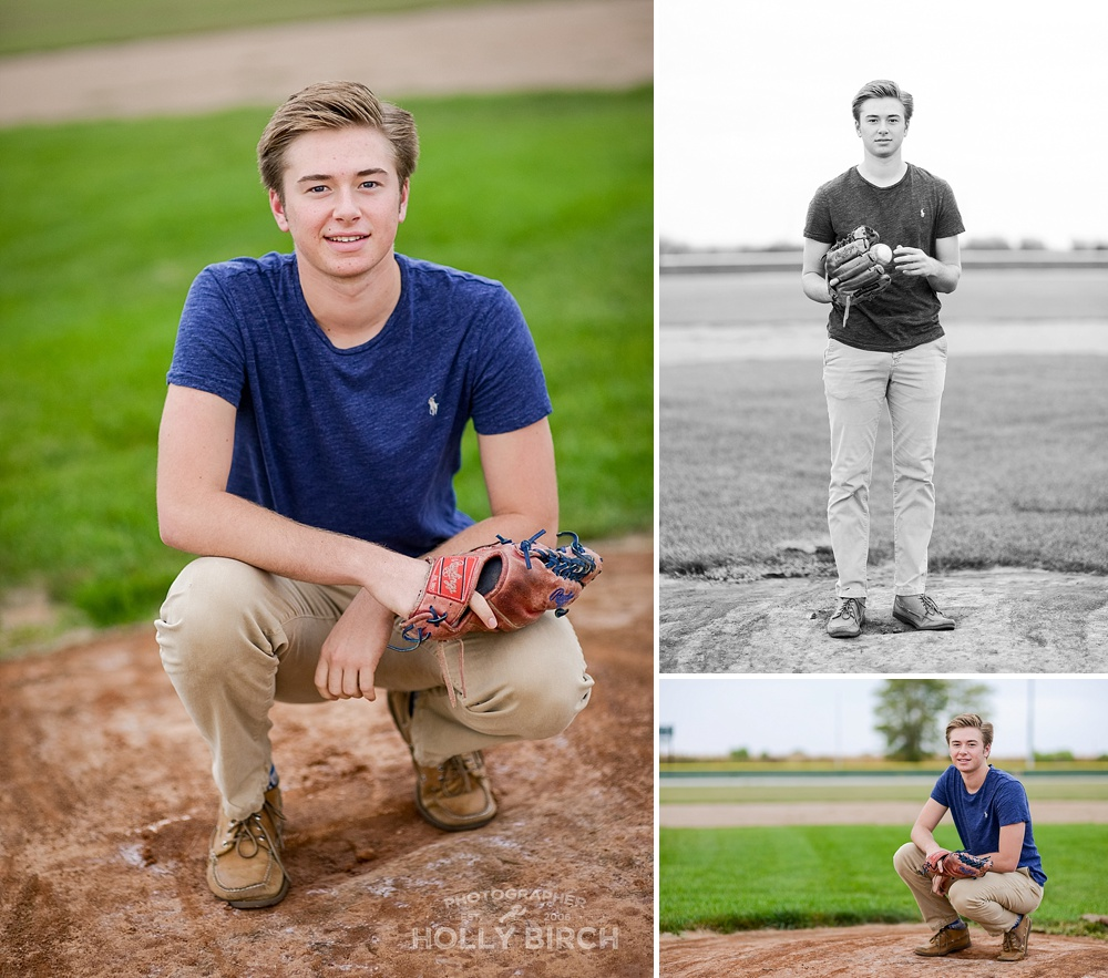 senior pics on pitcher's mound