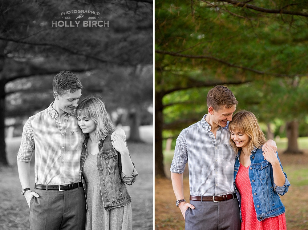 lovely couples pose for engagement session