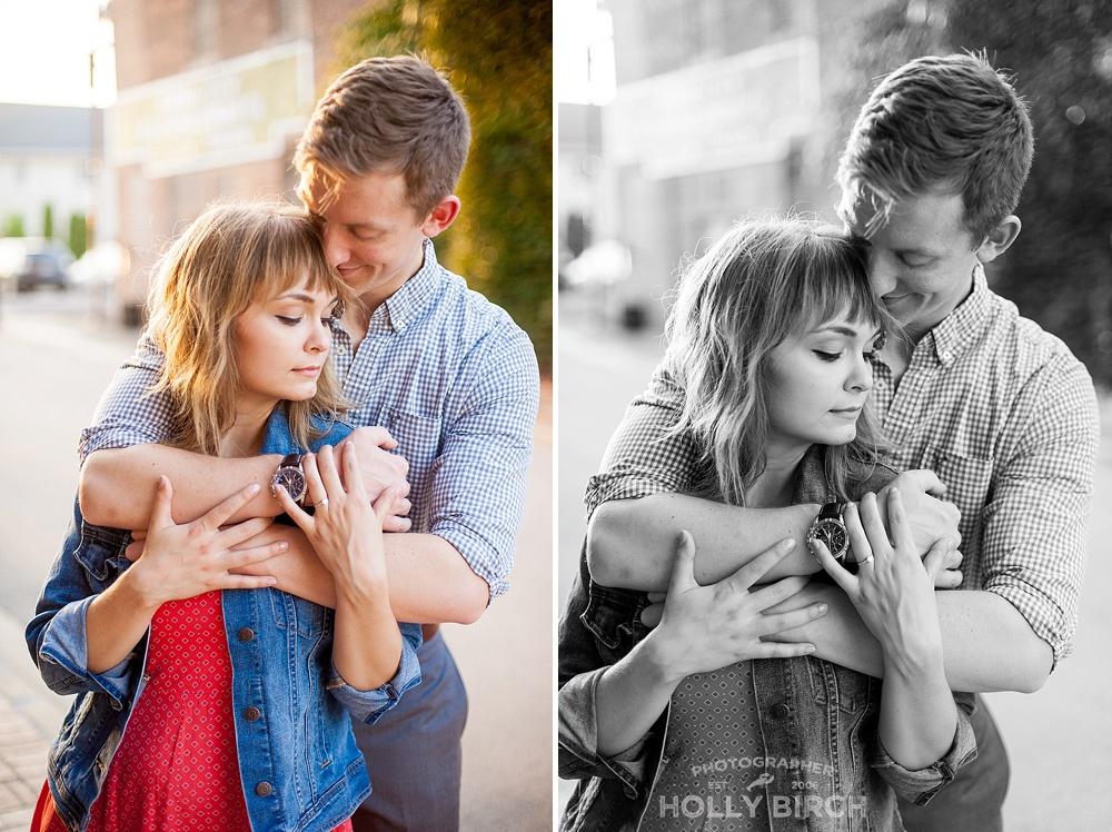 romantic couple's embrace pose