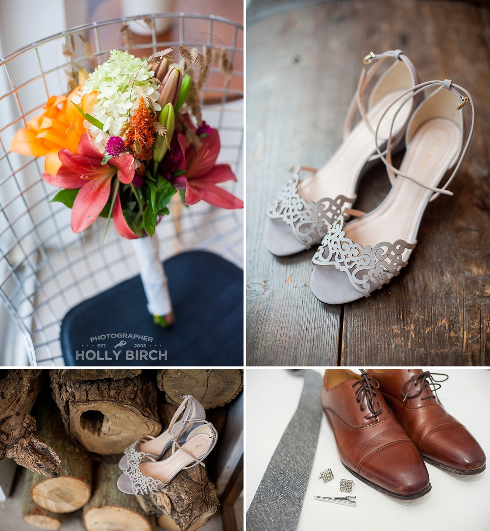 wildflower and shoe wedding details