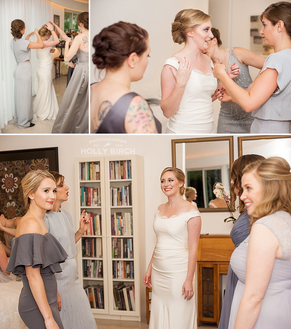 bride's getting ready room at Prairie Glass House