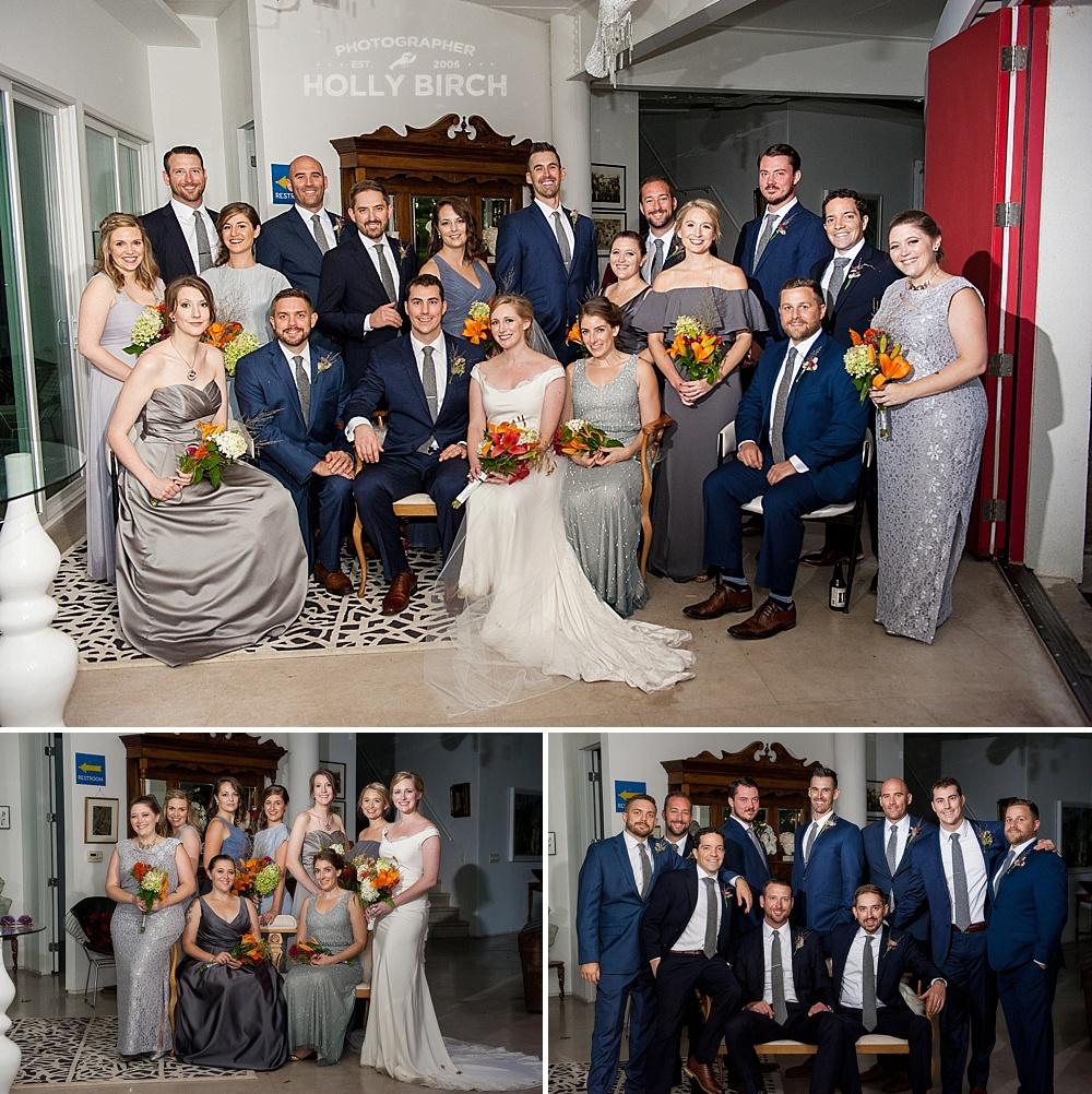 OCF wedding party indoors