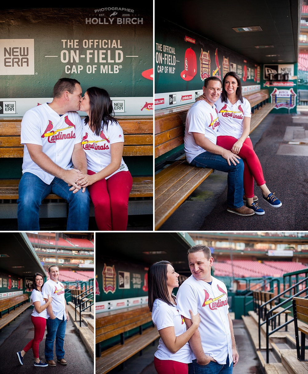 Busch dugout engagement photos