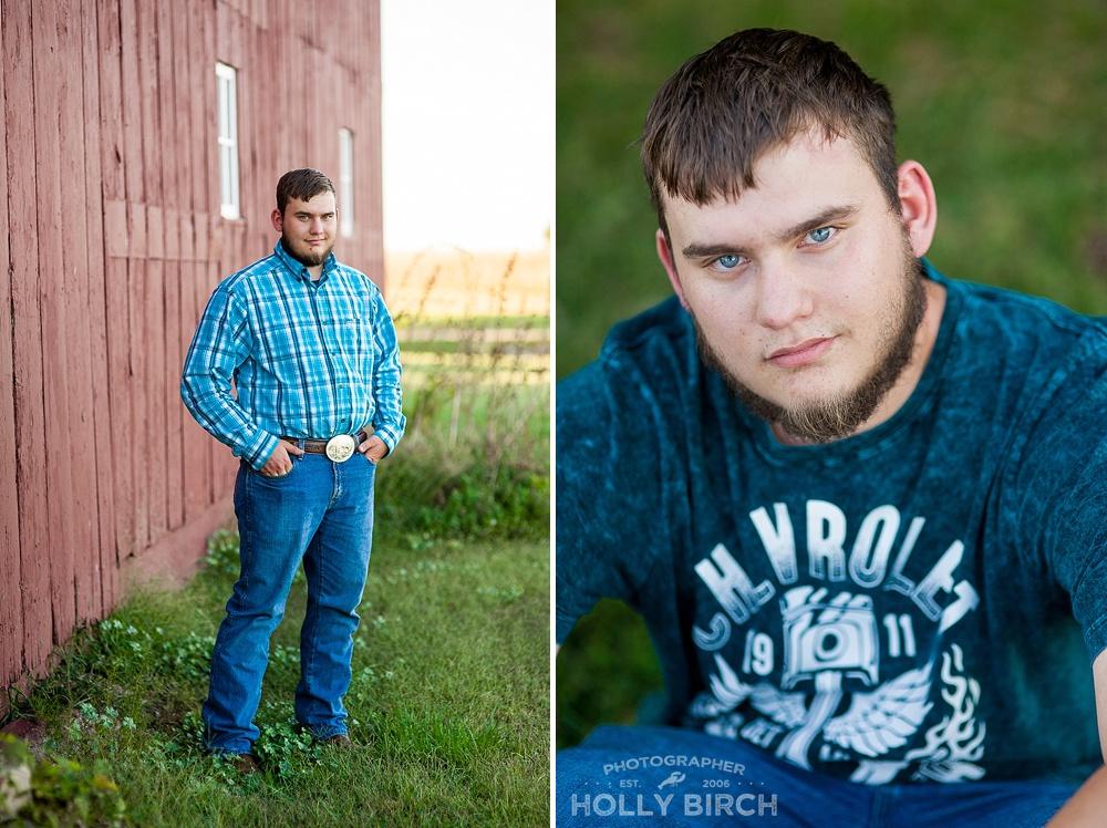 senior boy photos on the farm