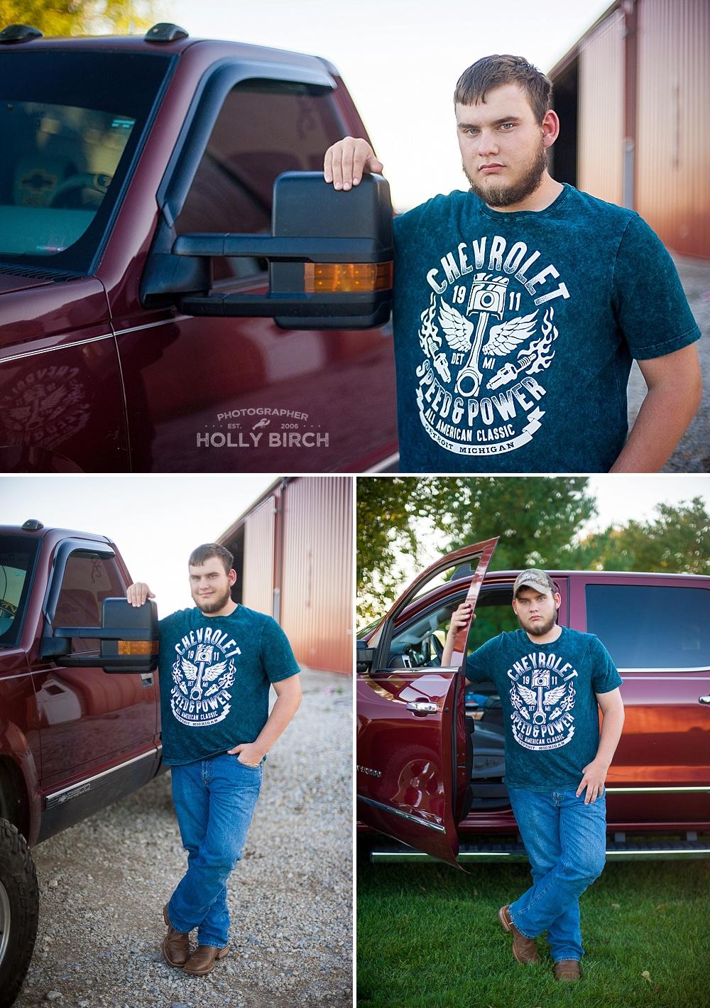Mason County senior photos with truck