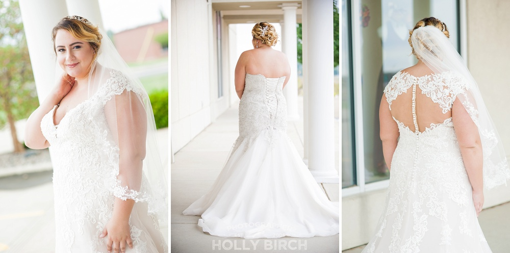 beautiful sleeved gown from Michelle's Bridal