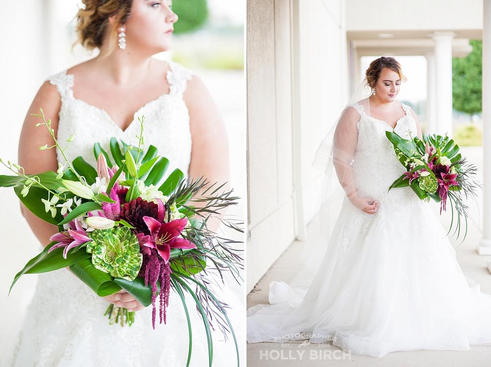 modern bridal bouquet from Flora Design Studio