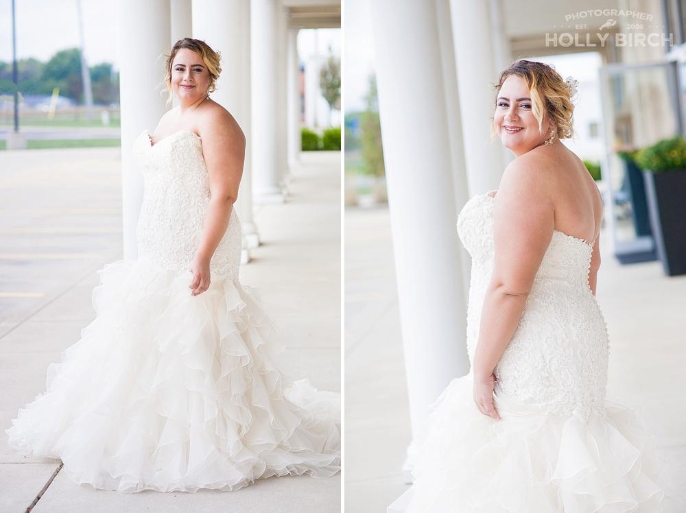 ruffled bridal dresses