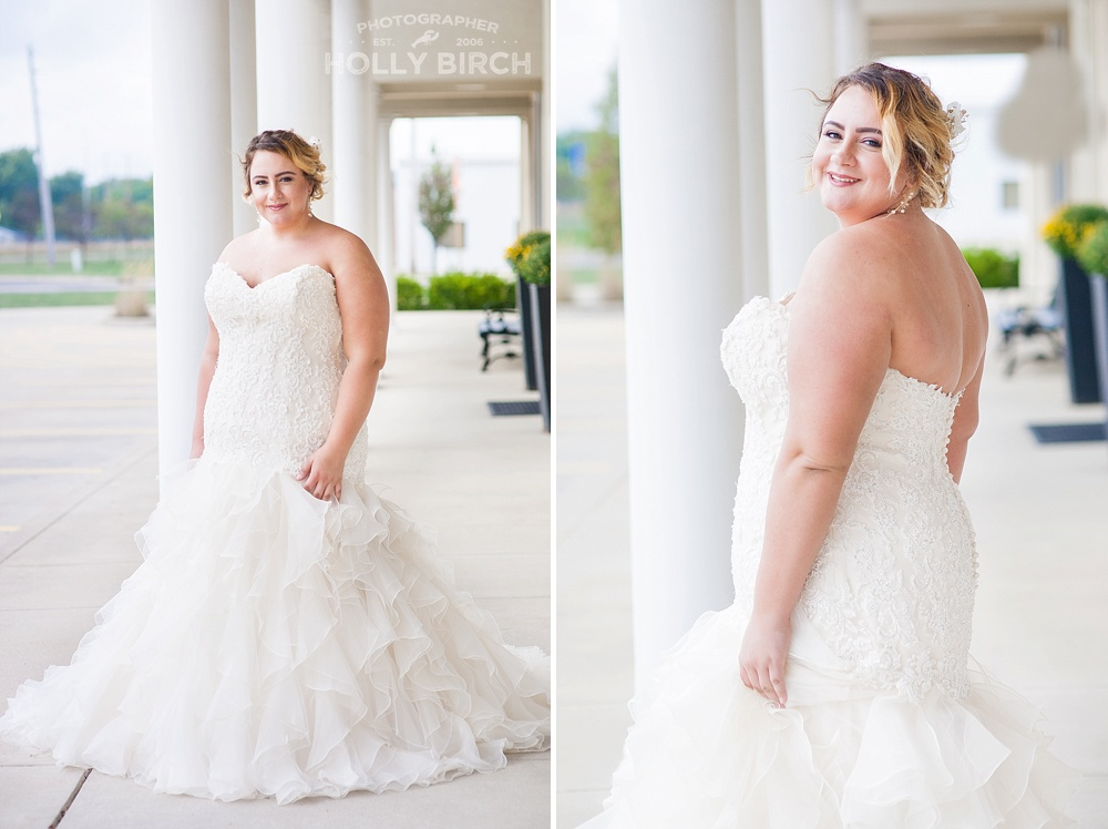 bridal looks with ruffles