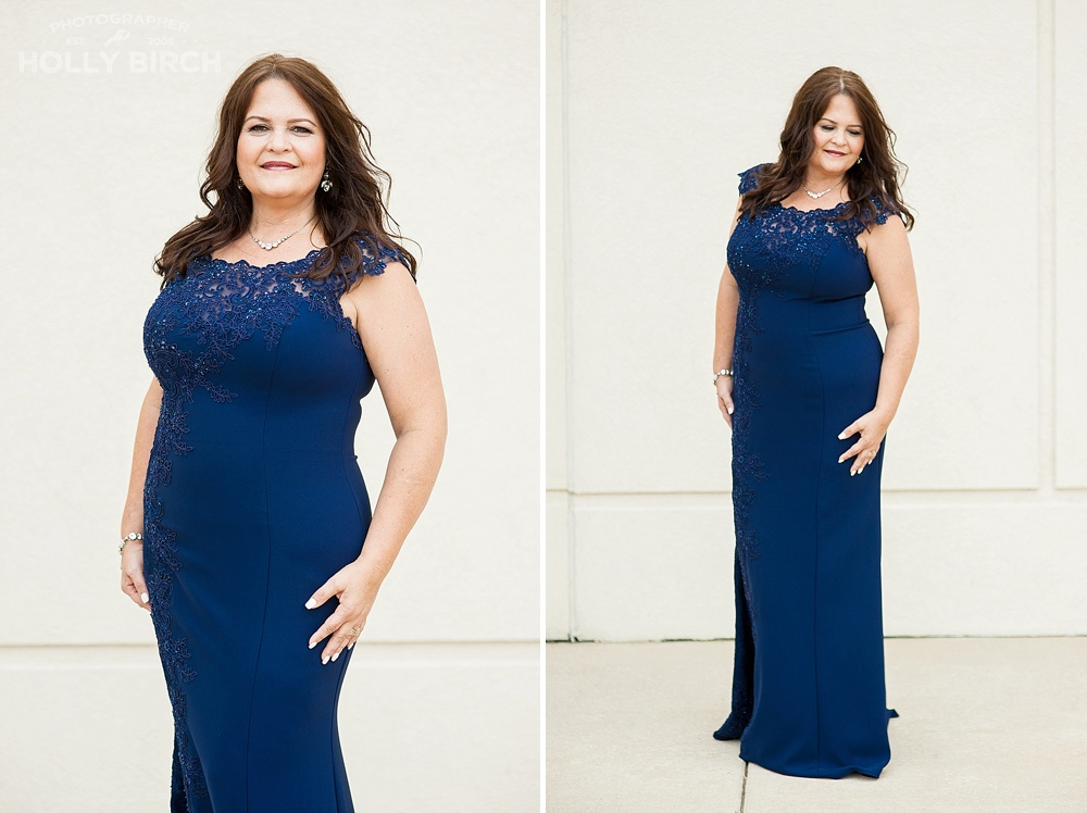 navy mother of the bride wedding gown