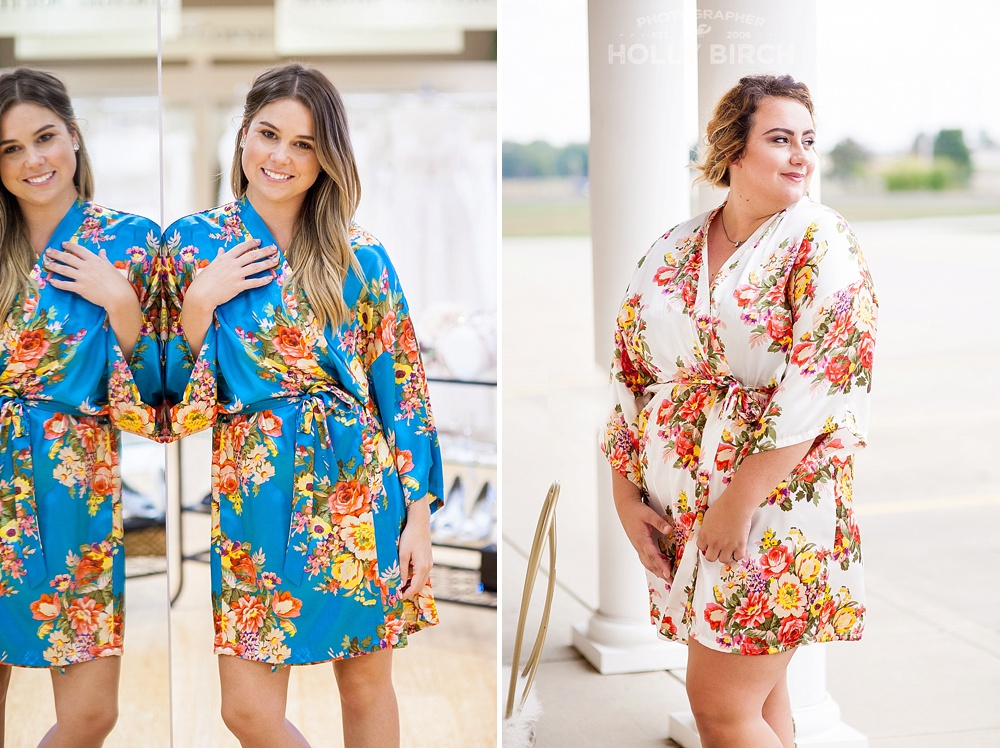 wedding day getting ready robes available at Michelle's Bridal