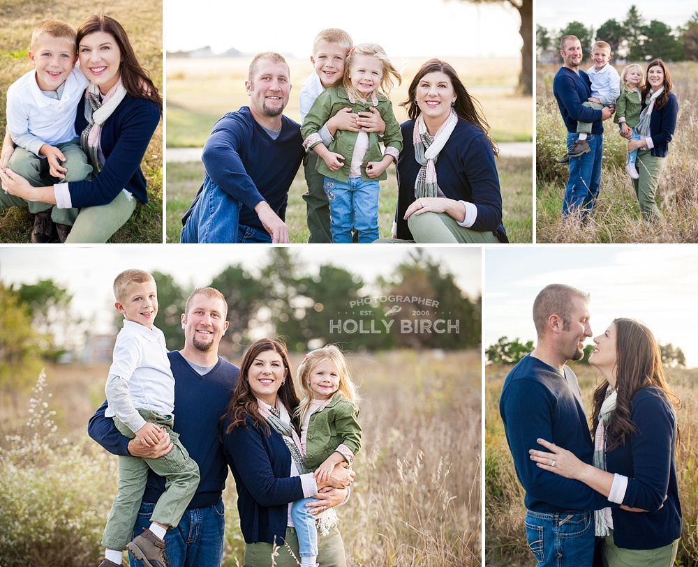 stylish fall family photo session