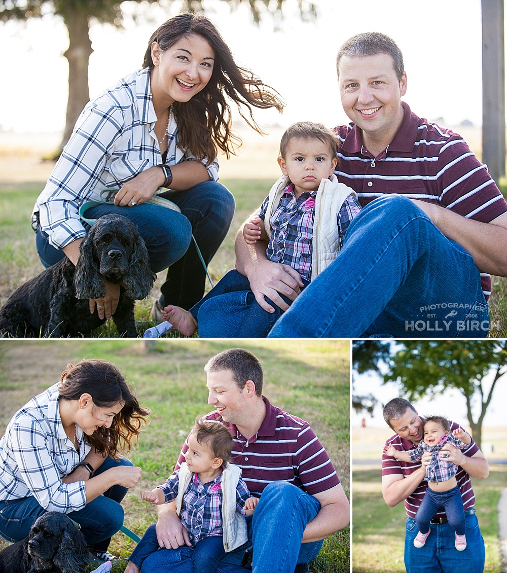 candid fall family photography