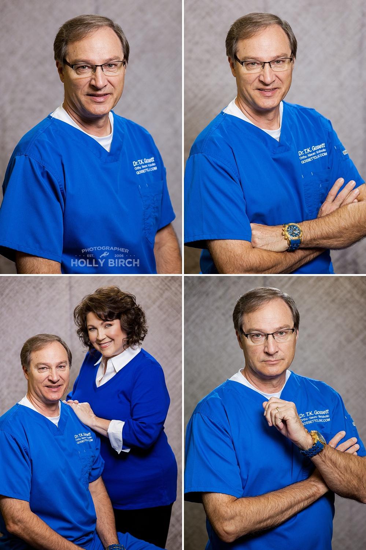 Dr. chiropractor business headshots
