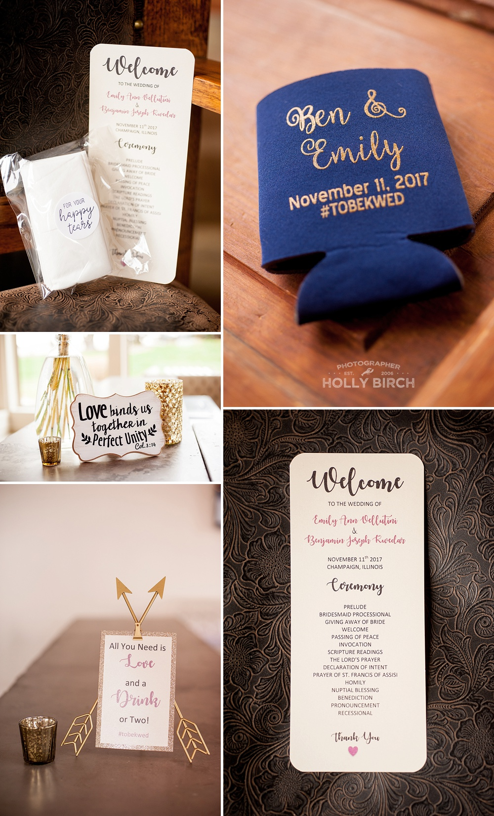 wedding day signage