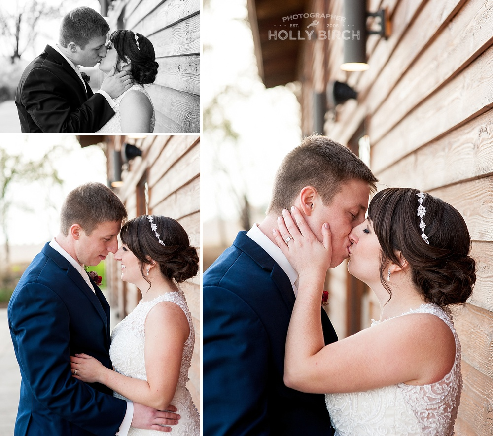 wedding day kisses