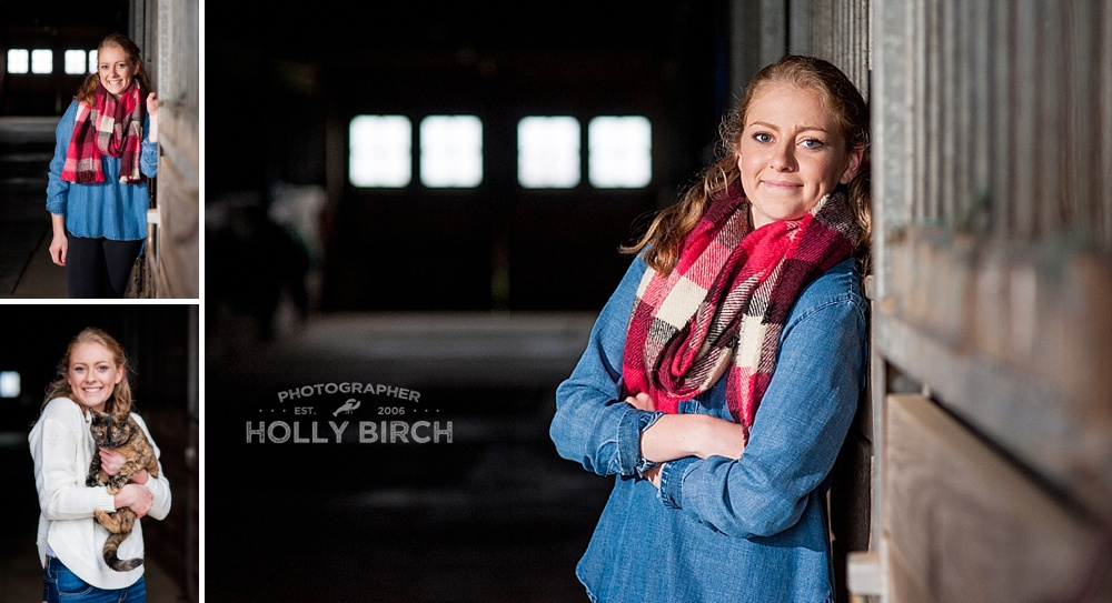 horse barn senior pictures