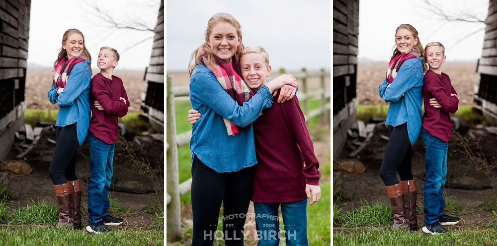 senior girl pics with little brother