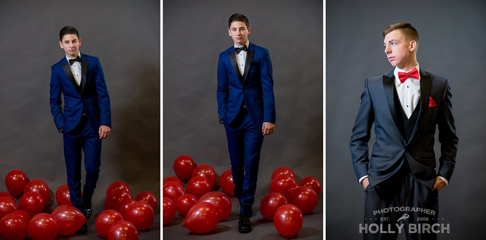 navy prom suit by M2 Michelle's
