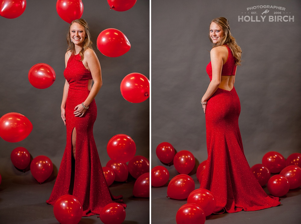 red sparkle prom dress