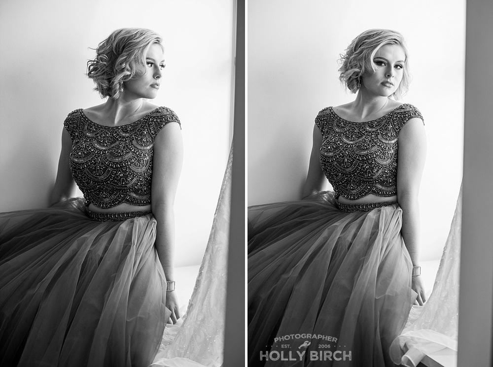 gray ballgown prom dress