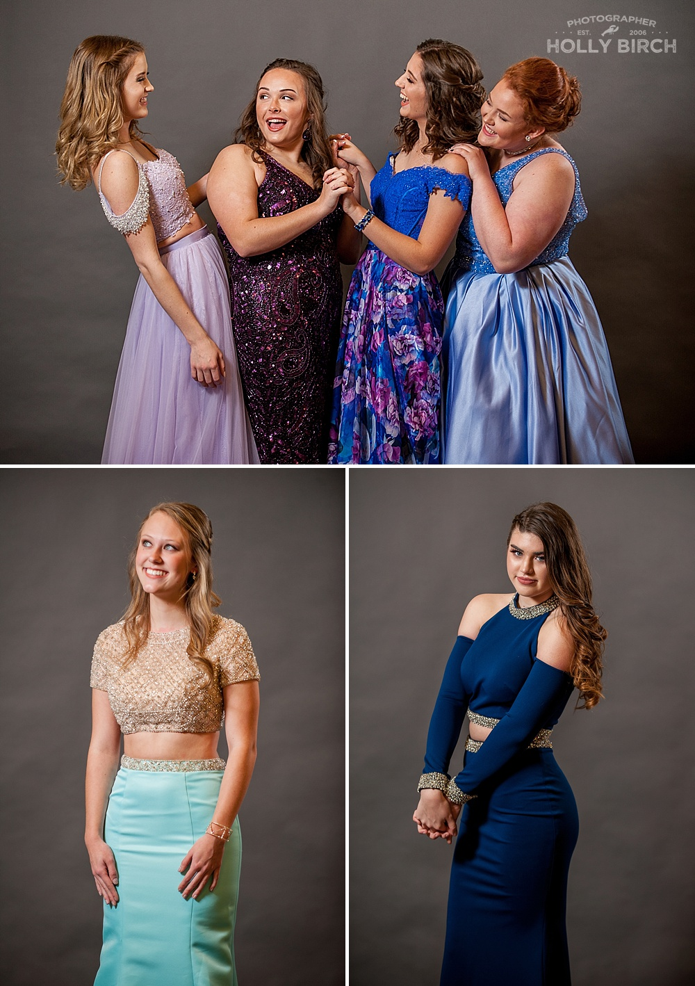 prom dresses in shades of blue