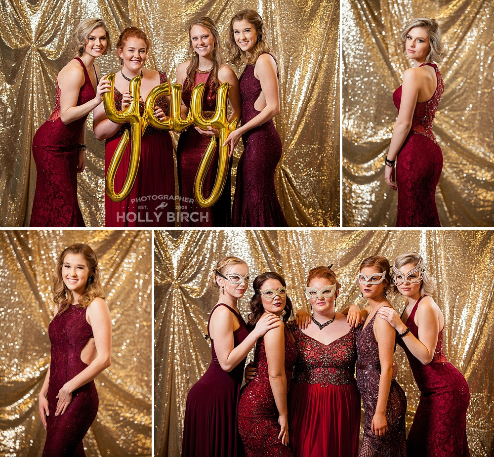 shades of red gold prom dresses