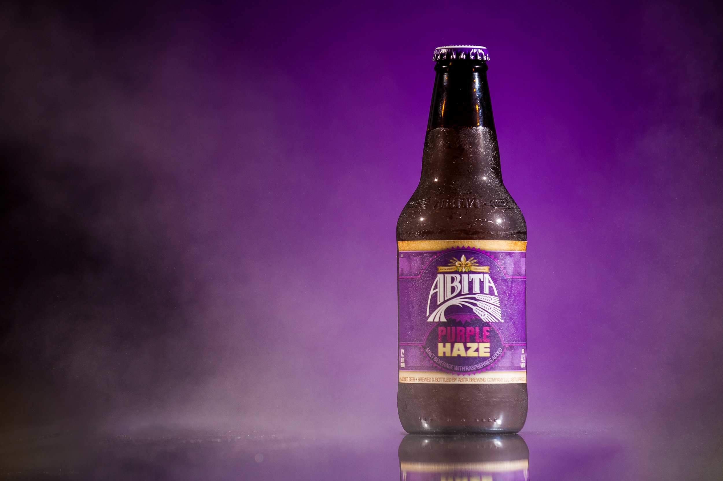 Abita Purple Haze  gets the spotlight in this favorite image from 2017!