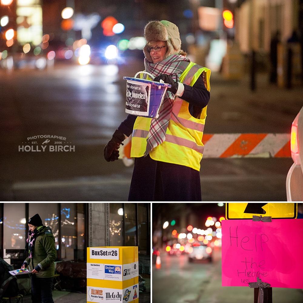 helping the homeless bucket shaker