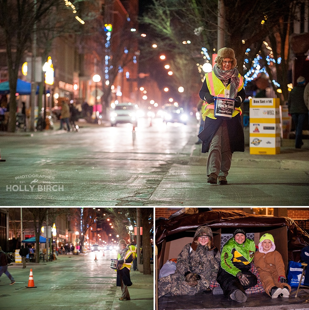 downtown Champaign IL homeless fundraiser