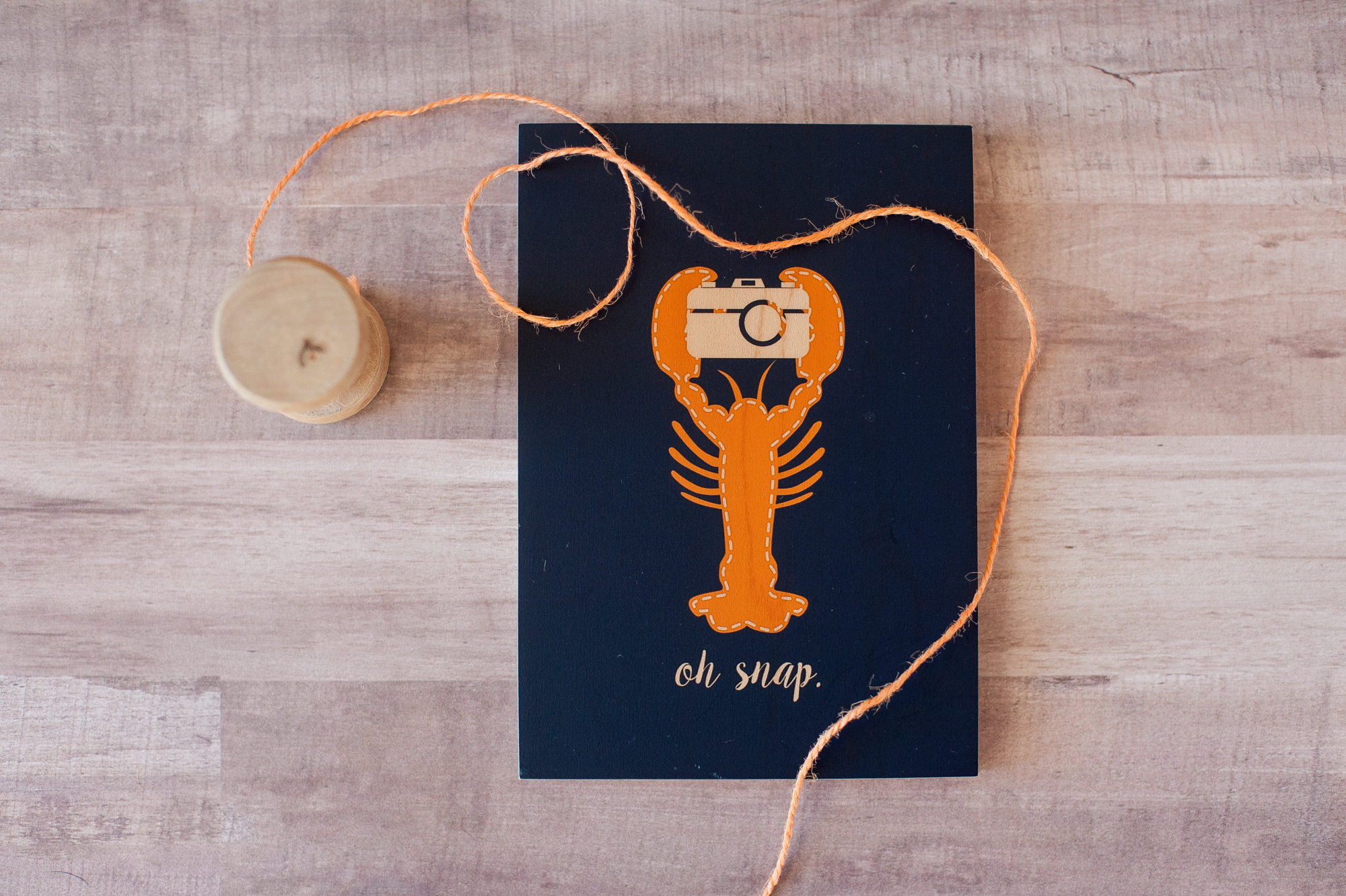 custom lobster art from a friend