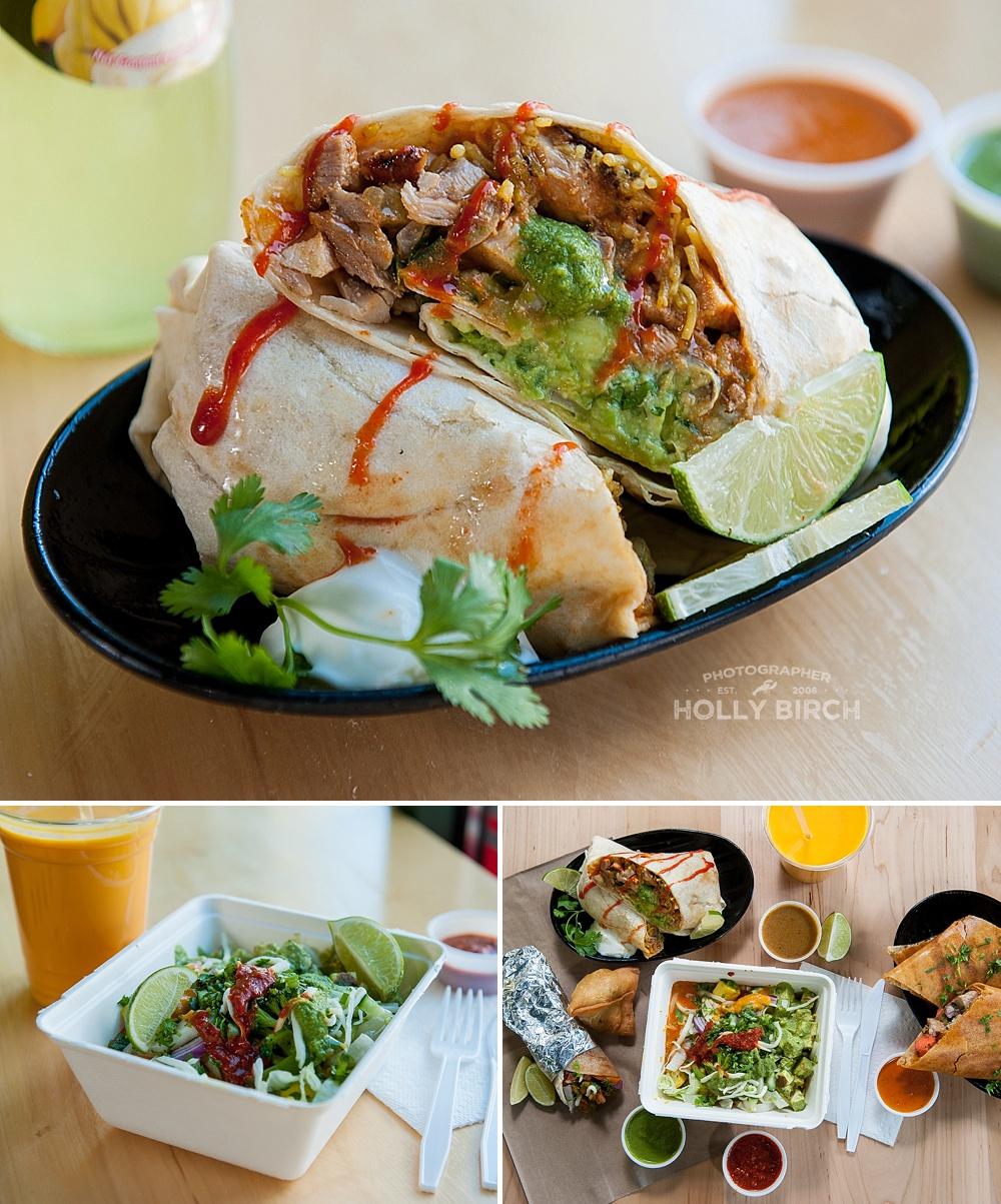 Signature Grill burrito and rice bowl