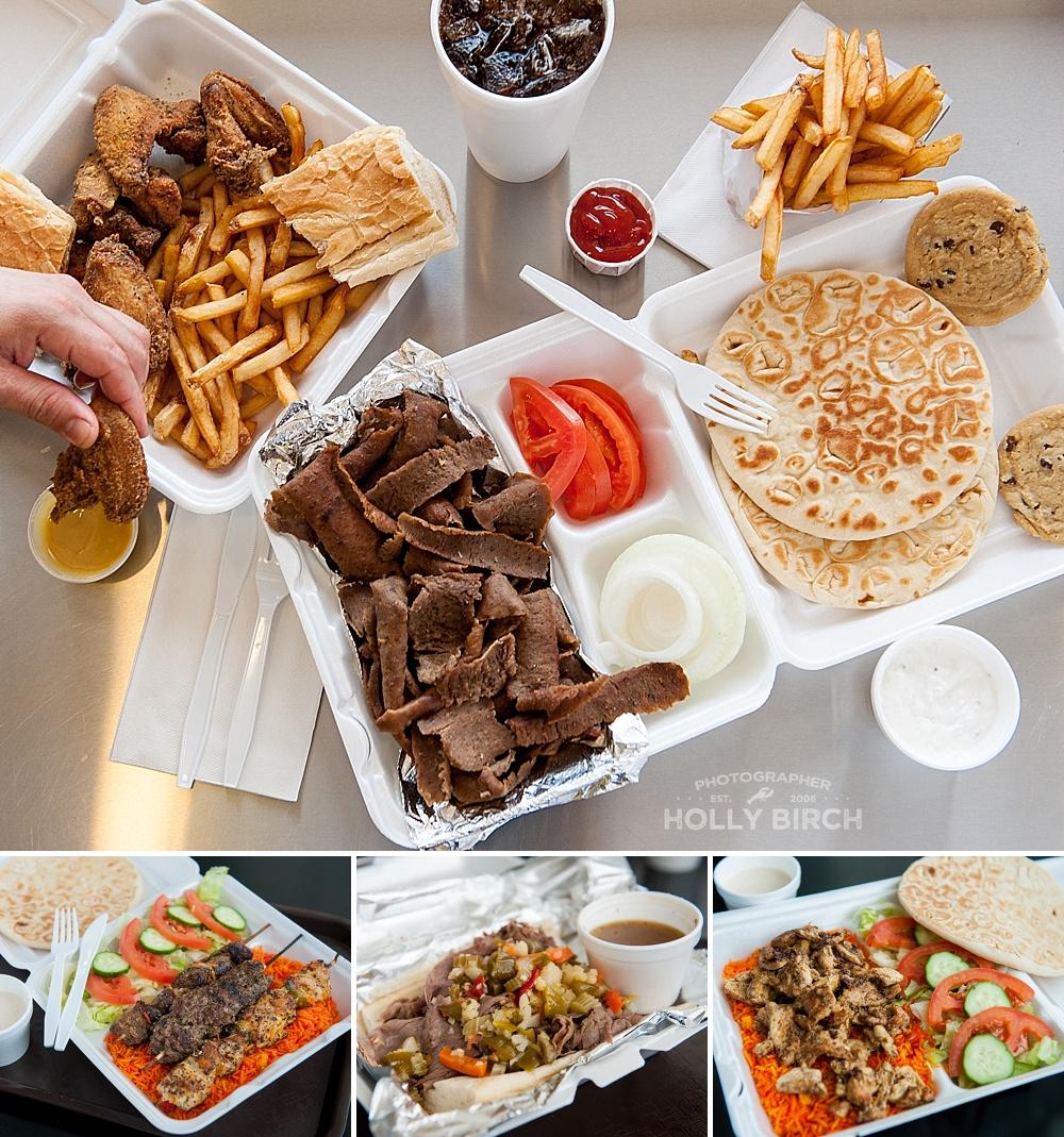 chicken kabobs, Italian beef, and chicken Shawarma